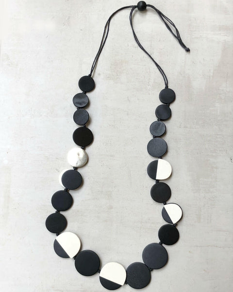 Black and Gold Accent Necklace