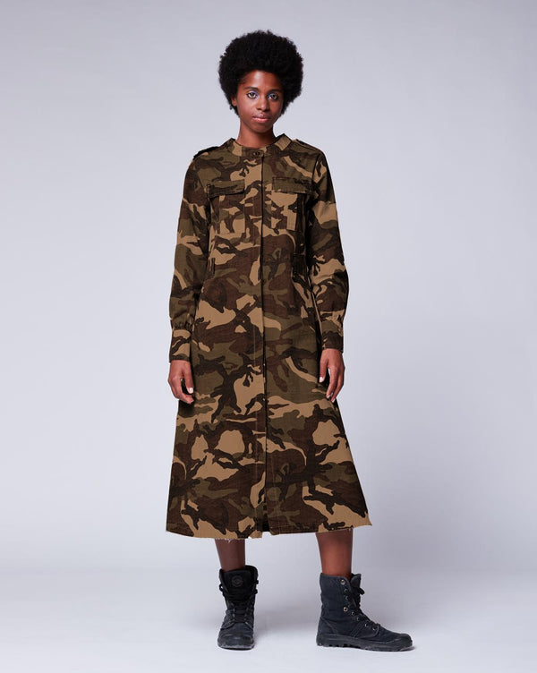Vintage Camo Shirtdress Dresses - The Post Office by Shannon Passero. Fashion Boutique in Thorold, Ontario