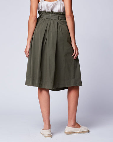 Pleated Bow-Tie Skirt