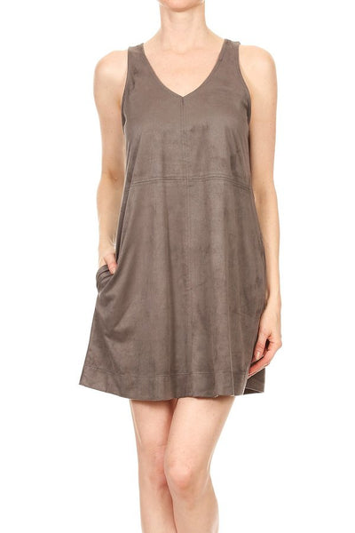 Suede Sleeveless Dress Freeloader Canada