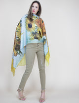 Silky Museum Print Scarf Accessories - The Post Office by Shannon Passero. Fashion Boutique in Thorold, Ontario