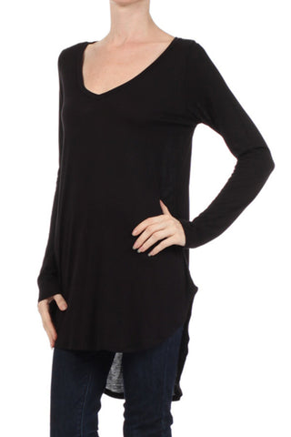 Long Sleeve Hi-Lo Tunic