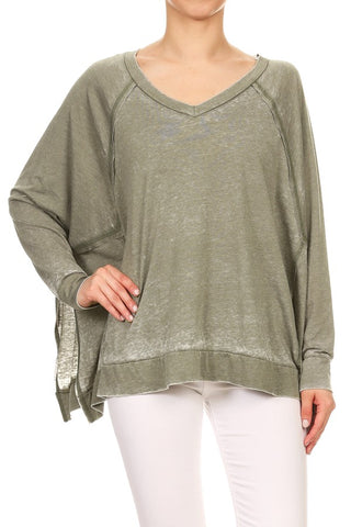 L/S Dolman Burnout Top