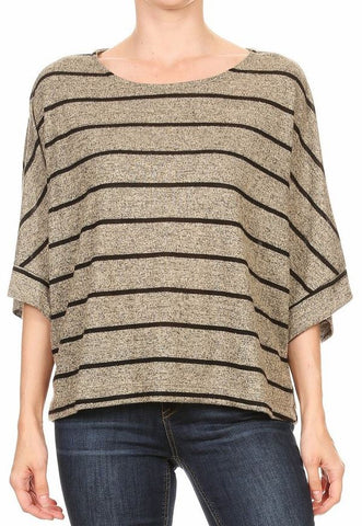 Striped Oversize Top