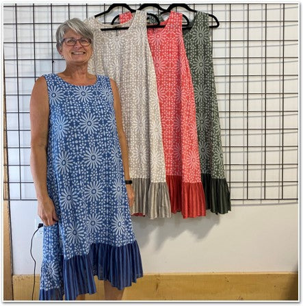 Flower Print Cotton Dress Dresses - The Post Office by Shannon Passero. Fashion Boutique in Thorold, Ontario