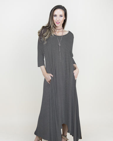 Free Falling 3/4 Sleeve Dress