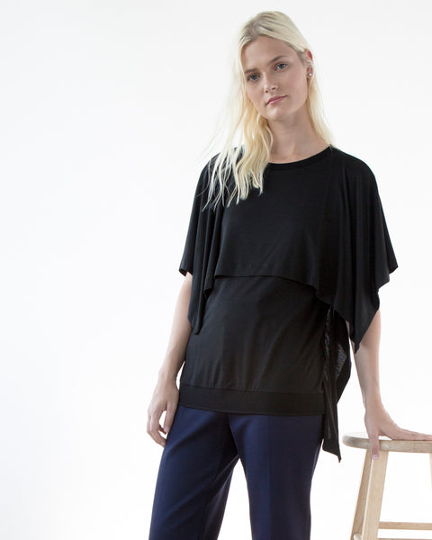 Hana Poncho Layered Top