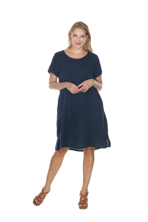 TeeShirt Dress Linen - The Post Office by Shannon Passero. Fashion Boutique in Thorold, Ontario