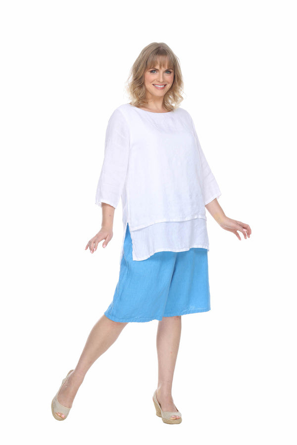 Linen Double Layer Top Linen - The Post Office by Shannon Passero. Fashion Boutique in Thorold, Ontario