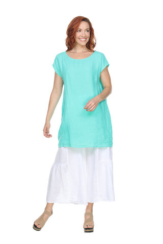 Cap Sleeve Round Neck Tunic Match Point Canada