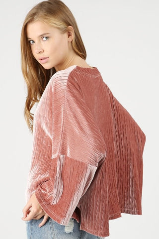 cable velvet oversized top by POL clothing
