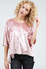 Basic Velvet Tee Tops - The Post Office by Shannon Passero. Fashion Boutique in Thorold, Ontario