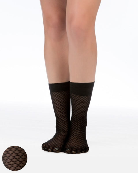 Honeycomb Sheer Socks