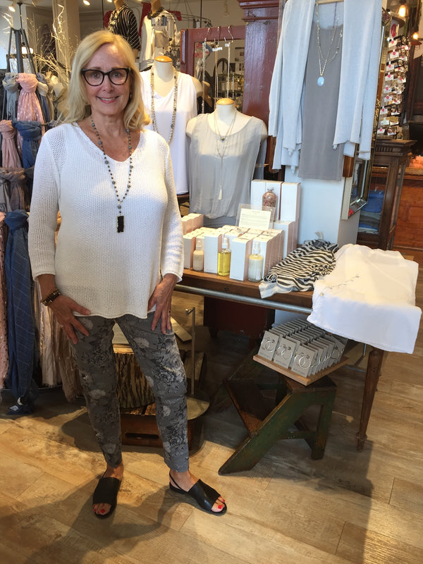 Genie Vneck Pullover Tops - The Post Office by Shannon Passero. Fashion Boutique in Thorold, Ontario