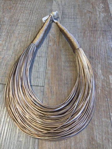 Metallic Roped Necklace