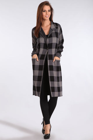 Plaid Collar Jacket