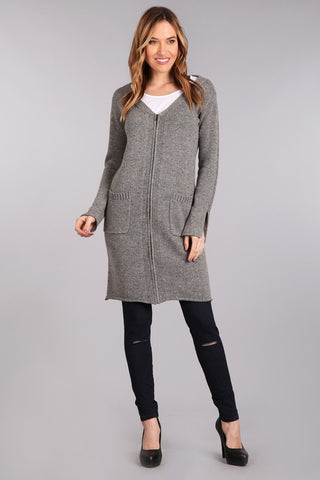 long sleeve duster sweater m rena