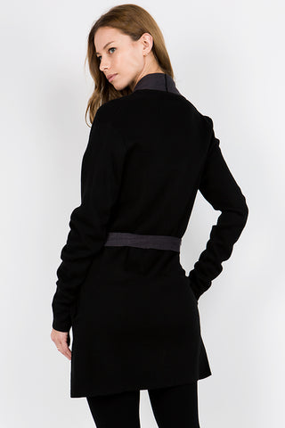 Robe Style Sweater Jacket