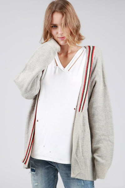 Asymmetrical Varsity Sweater