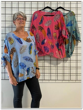 Feather Batwing Top Tops - The Post Office by Shannon Passero. Fashion Boutique in Thorold, Ontario