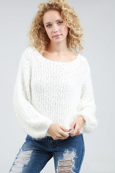 Popcorn Sweater Top POL Clothing Canada