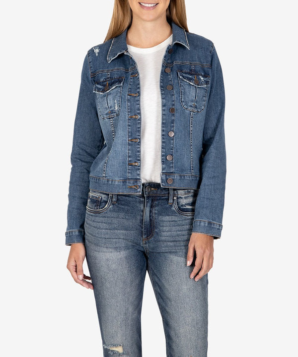 Amelia Denim Jacket Denim - The Post Office by Shannon Passero. Fashion Boutique in Thorold, Ontario