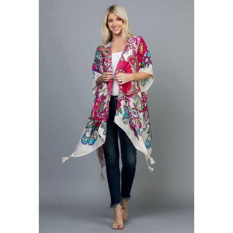 Psychedelic Floral Kimono