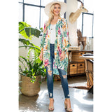 Tropical Leaf Print Kimono Coverups - The Post Office by Shannon Passero. Fashion Boutique in Thorold, Ontario