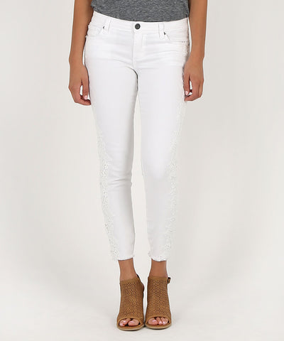 Connie Ankle Skinny White Kut from the Kloth