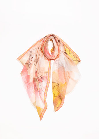 Watercolour Drawing Scarf