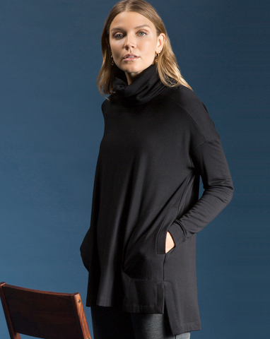 Square Fleece Turtleneck