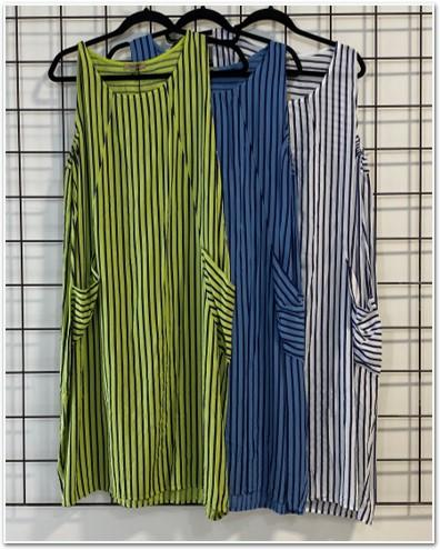 Striped Pattern Pocket Dress Dresses - The Post Office by Shannon Passero. Fashion Boutique in Thorold, Ontario