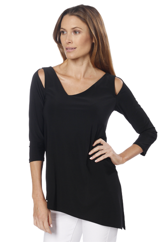 3/4 Sleeve Cut-Out Shoulder