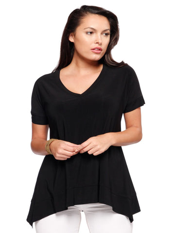 Short Sleeve Vneck Top