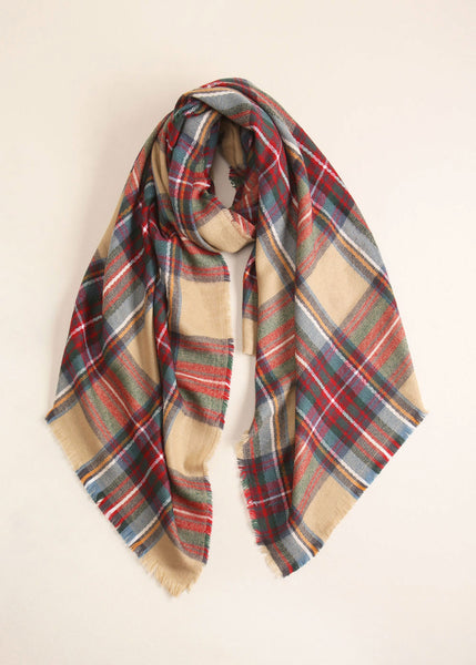 Plaid Lumber Scarf Look by M Canada