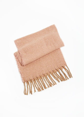 Contrast Fringe Woven Scarf Look by M Canada