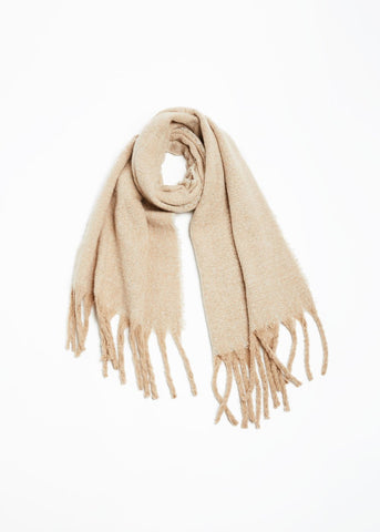 Contrast Fringe Woven Scarf