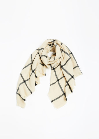 Modern Grid Scarf Look by M Canada