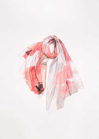 Floral Watercolour Print Scarf