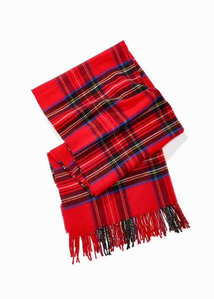 Plaid Blended Scarf