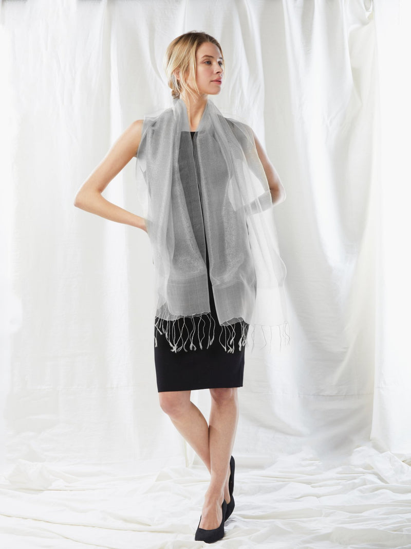 Shimmer Sparkle Layered Scarf Accessories - The Post Office by Shannon Passero. Fashion Boutique in Thorold, Ontario