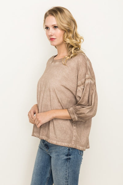 Off Shoulder Balloon Top Mystree Canada