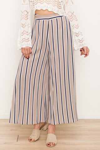 Pleated Front Wide Pant