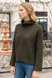 Dolman Ribbed Turtleneck