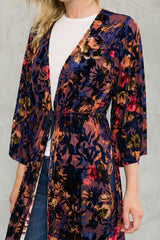 Printed Burnout Velvet Kimono Tops - The Post Office by Shannon Passero. Fashion Boutique in Thorold, Ontario