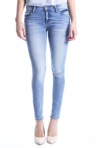 Mia Toothpick Skinny Distressed Jeans Kut from the Kloth
