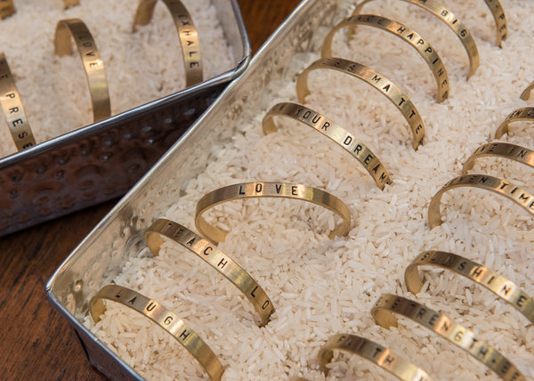 Brass Message Bracelet Brass Jewelry - The Post Office by Shannon Passero. Fashion Boutique in Thorold, Ontario