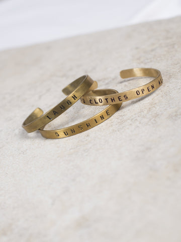 Brass Message Bracelet