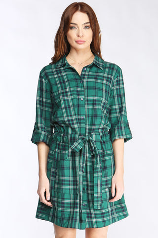 Nina Plaid Dress
