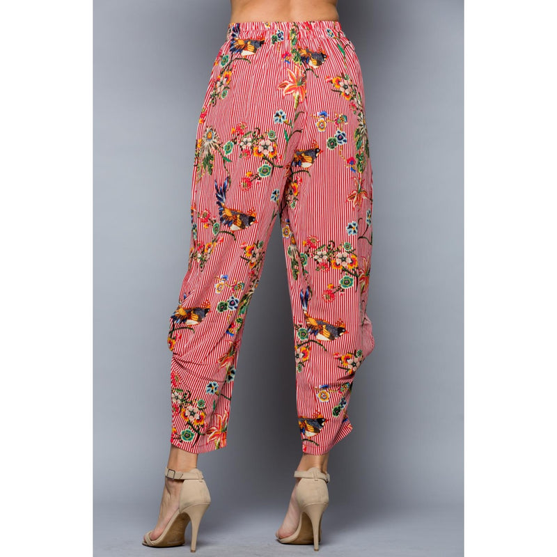 Floral Bird Print Pant Bottoms - The Post Office by Shannon Passero. Fashion Boutique in Thorold, Ontario